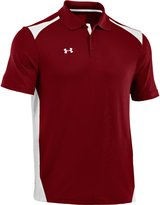 Under Armour Men's Team Colorblock Polo Shirts Black/Red/Red