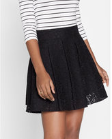 Express High Waisted Lace Pleated Full Skirt