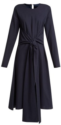 Merlette New York Kiakora Tie-front Cotton Dress - Womens - Navy