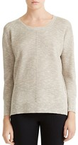 Halston Stitch-Detail Crewneck Sweater