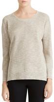 Halston Stitch-Detail Crewneck Sweater