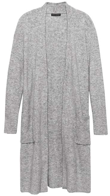 Petite Plush Wool-Blend Duster Cardigan Sweater