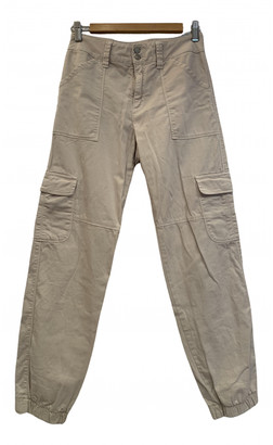 Brandy Melville Ecru Cotton Trousers