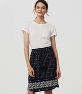 LOFT Petite Diamante Drawstring Pencil Skirt