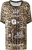 Dolce & Gabbana leopard print T-shirt with printed details