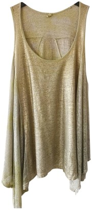 120% Lino Beige Linen Top for Women