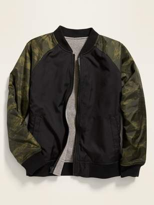 Old Navy Reversible Color-Blocked Bomber Jacket for Boys