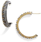 Konstantino Women's 'Hebe' Crown Detail Hoop Earrings