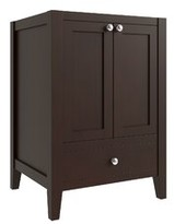 """CNC Costume National Cabinetry Vanguard 24"""" Single Bathroom Vanity Base Only Cabinetry Base Finish: Espresso Brown"""