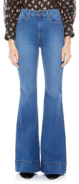 Alice + Olivia Beautiful High Rise Bell Bottom Jeans in Off the Cuff
