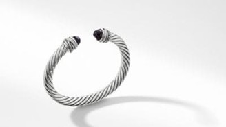 David Yurman Cable Classic Collection Crossover Bracelet With Black