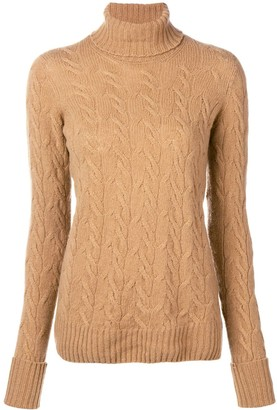 Drumohr Cable Knit Turtle Neck Sweater