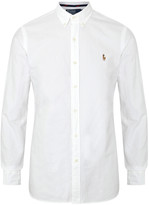 Polo Ralph Lauren White Slim Pique Cotton Oxford Shirt