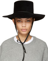CLYDE Black Felt Gaucho Hat