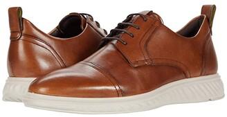 Ecco ST.1 Hybrid Lite Cap Toe Tie (Amber) Men's Shoes