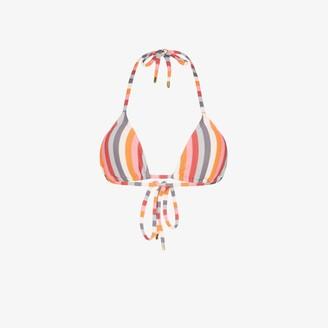 Peony Swimwear Rainbow Stripe Triangle Bikini Top