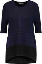 Opening Ceremony Linear Delta two-tone ribbed stretch-knit top