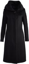 Cole Haan Black Wool-Blend Trench Coat