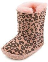 UGG Baby Cassie Leopard Infant Baby Girls 0-6 Months Pink Winter Boots