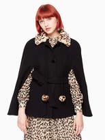 Kate Spade Leopard-print collar belted cape