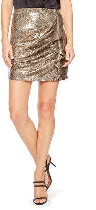 Parker Kenny Sequined Ruffle Mini Skirt
