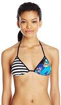 Roxy Women's Polynesia Tri Print Bikini Top