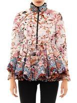 Moncler M Pow blossom peplum down coat