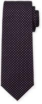 HUGO BOSS Pindot Silk Tie, Purple