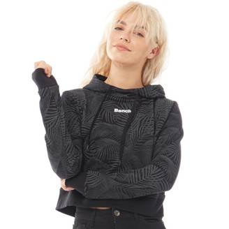 Bench Womens Cappella Cropped Hoodie Black
