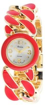 Geneva Platinum Women's Round Face Chain Link Watch
