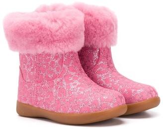 Ugg Kids Metallic Leopard Print Boots