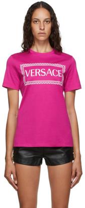 Versace Pink 90s Logo T-Shirt