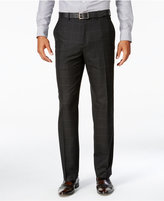 Sean John Men's Classic-Fit Black Windowpane Suit Pants