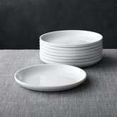 Crate & Barrel Set of 8 Logan Stacking Salad Plates