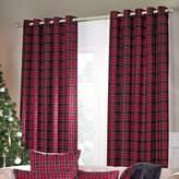 Kaleidoscope Cranberry Vald'Isere Eyelet Lined Curtains