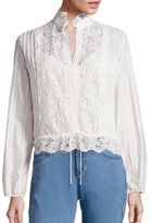 See by Chloe Cotton Lace Blouse