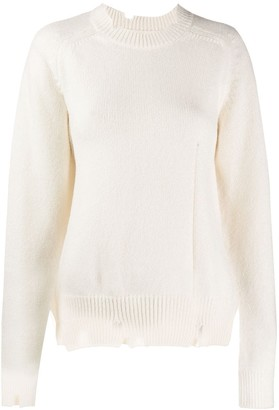 Maison Margiela worn-out effect knitted sweater