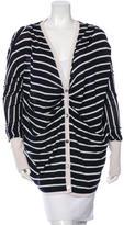 Oscar de la Renta Cashmere & Silk-Blend Striped Cardigan