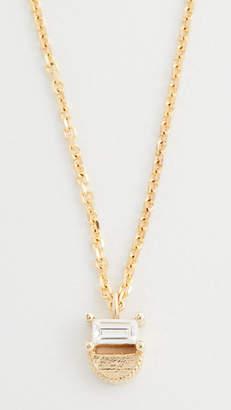 Jennie Kwon Designs 14k Baguette Half Moon Necklace