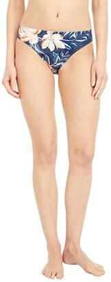 Roxy Lilies Surf Full Coverage Bikini Bottoms (Mood Indigo Happy Day) Women's Swimwear