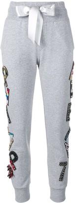 Philipp Plein embellished Plein track pants