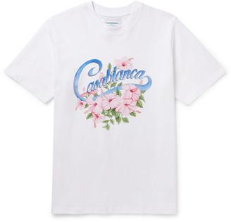 Casablanca Printed Organic Cotton-Jersey T-Shirt
