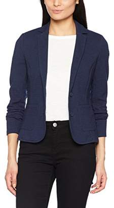 Tom Tailor Women's Feminine Ottoman Blazer Suit Jacket, Real Navy Blue 6593, 40 (Size: Large)