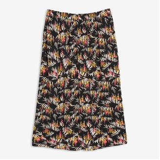 Joe Fresh Women+ Crinkle Maxi Skirt, Red (Size 1X)