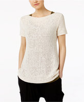 Eileen Fisher Organic Cotton-Blend Boat-Neck Sweater