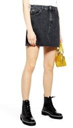 Topshop High Waist Denim Skirt