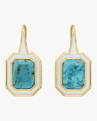Isharya Chakra Turquoise Shadow Drop Earrings