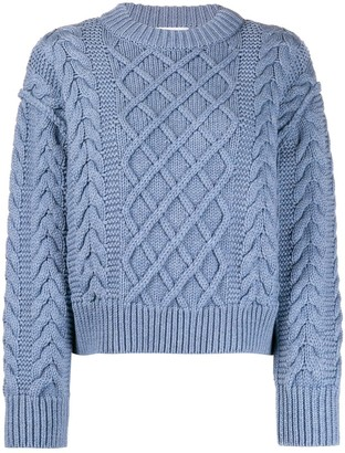 Each X Other cropped cable knit jumper