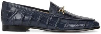 Sam Edelman Loraine Croc-Embossed Leather Loafers