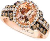 LeVian Le Vian Peach Morganite (1-3/8 ct. t.w.) and Diamond (1/2 ct. t.w.) Ring in 14k Rose Gold, Only at Macy's